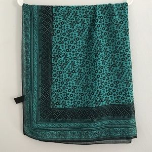 H&M Divided Turquoise Scarf